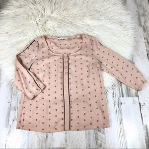 LC LAUREN CONRAD polka dot blouse size small